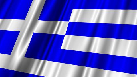 GreeceFlag02 Stock Video Footage
