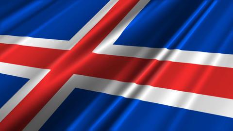 IcelandFlagLoop02 Stock Video Footage