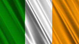 IrelandFlagLoop01 Stock Video Footage