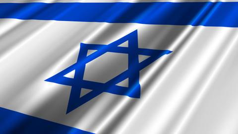 IsraelFlagLoop02 Stock Video Footage