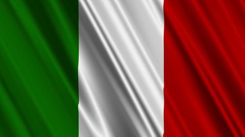 ItalyFlag01 Stock Video Footage