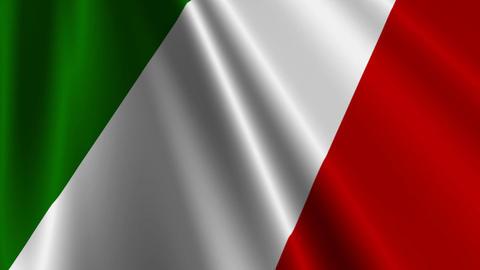 ItalyFlag03 Stock Video Footage