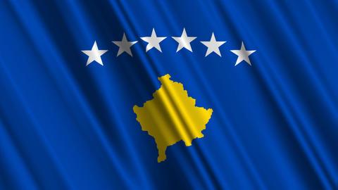 KosovoFlagLoop01 Stock Video Footage