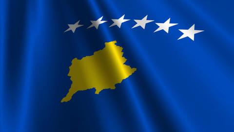 KosovoFlagLoop03 Stock Video Footage