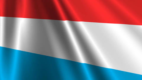 LuxembourgFlagLoop03 Stock Video Footage