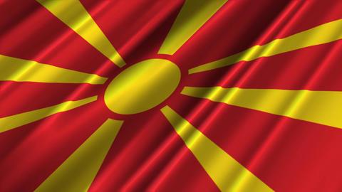 MacedoniaFlagLoop02 Stock Video Footage