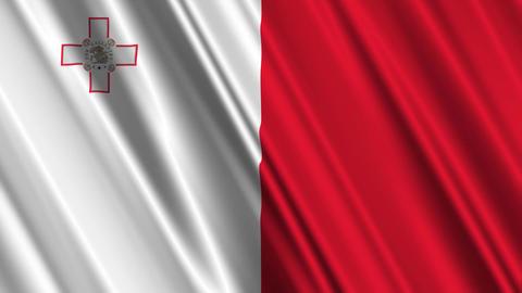 MaltaFlagLoop01 Stock Video Footage