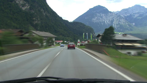 timelapse highspeed country road drive alps Stock Video Footage