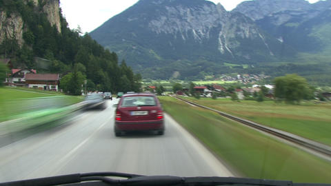timelapse highspeed country road drive alps Footage