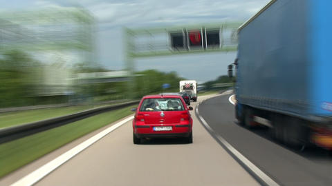 timelapse highspeed highway drive 1 Stock Video Footage