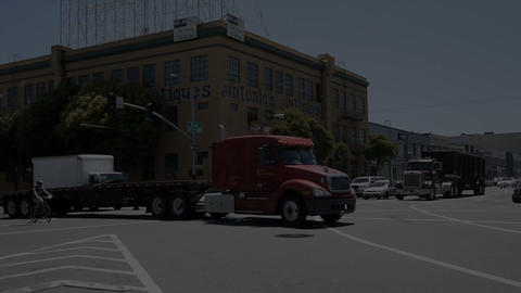 Large truck Stock Video Footage