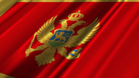 MontenegroFlagLoop02 Stock Video Footage