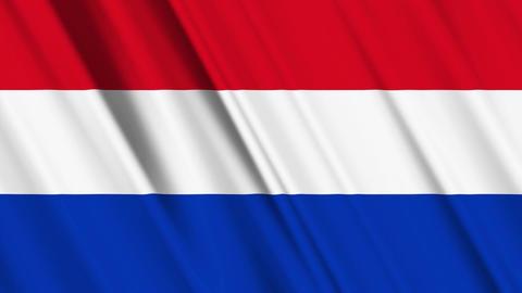 NetherlandsFlagLoop01 Stock Video Footage