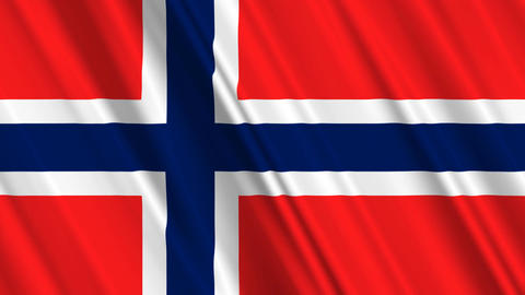 NorwayFlagLoop01 Animation