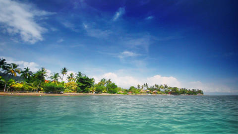 Tropical beach (left) Stock Video Footage
