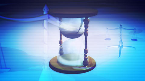 Time Justice Looping Background Stock Video Footage