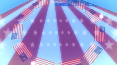 USA Flag Flares Stock Video Footage