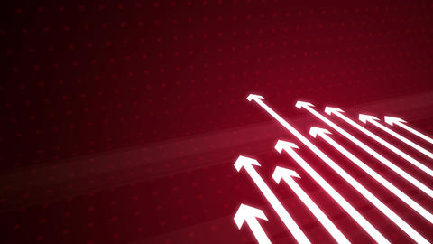 Arrow Growing on Red HD Animation