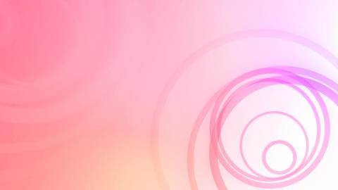 Random Rings Pink HD Loop Animation