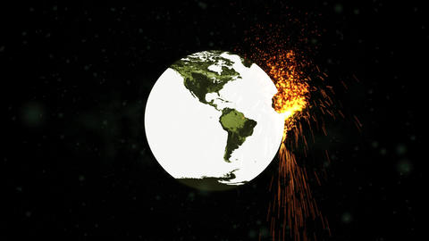 World Exploding Bomb HD Stock Video Footage