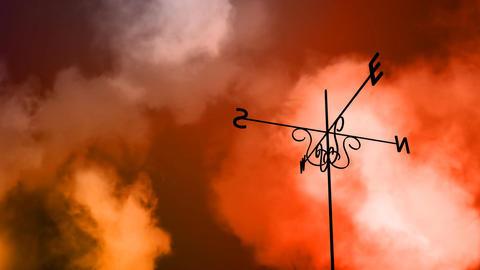 Weather Vane Change HD Loop Stock Video Footage