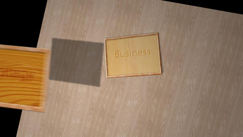Business strategies notice board - Success Animation