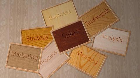 Business strategies notice board - Success Stock Video Footage