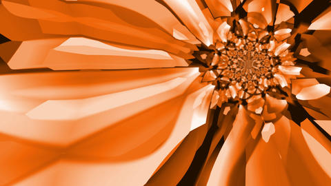 Kaleidoscopic orange and brown abstract background -... Stock Video Footage