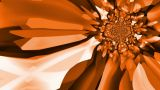 Kaleidoscopic Orange And Brown Abstract Background - Loopable stock footage