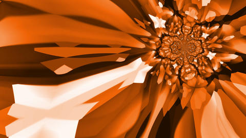 Kaleidoscopic orange and brown abstract background - Loopable Animation