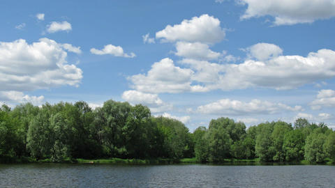 sunny pond time lapse Stock Video Footage