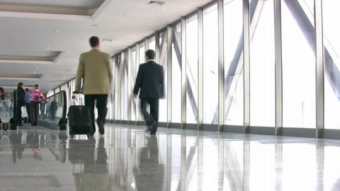 business people in corridor Stock Video Footage