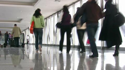 business people in corridor Stock Video Footage