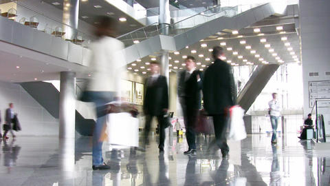 business hall Stock Video Footage