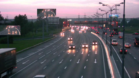 night road Footage
