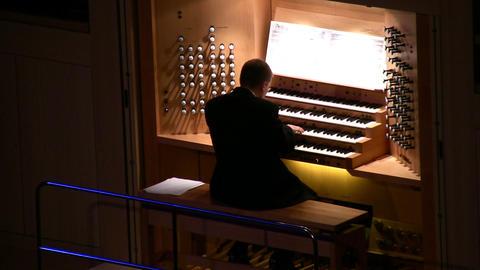 big organ music Stock Video Footage