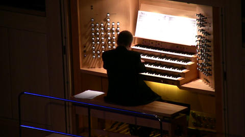 big organ music Stock Video Footage