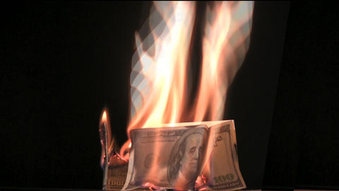 fire dollar house Stock Video Footage