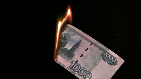 fire rubles Stock Video Footage