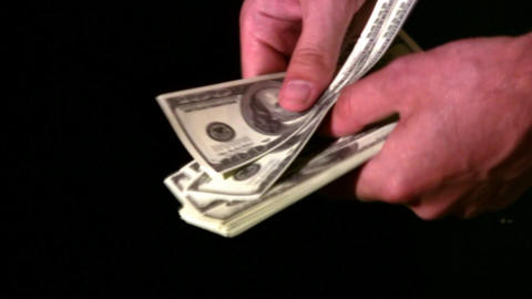 count dollars in hands Stock Video Footage