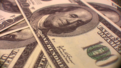 dollar background rotating Stock Video Footage