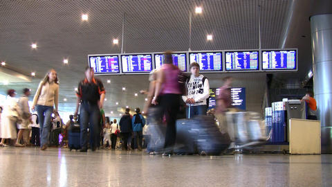 airport indicator board Stock Video Footage