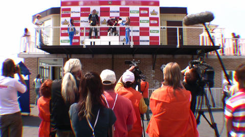 winners and press Footage