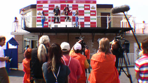 winners and press Stock Video Footage