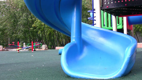 little girl on playground Stock Video Footage