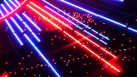 night neon light casino 2 Stock Video Footage