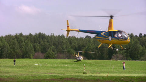 MOSCOW, RUSSIA - JULE 19: The international competitions on helicopter sports the Cup of KB Mile ha Footage