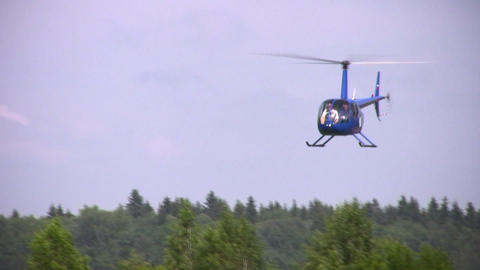 helicopter in sky Stock Video Footage