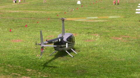 helicopter start Stock Video Footage