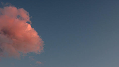sunset cloud time lapse 2 Stock Video Footage